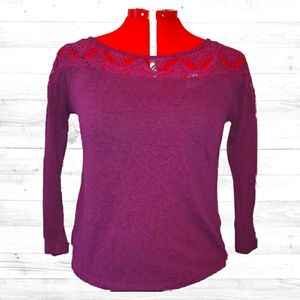 Lacy Purple Shirt